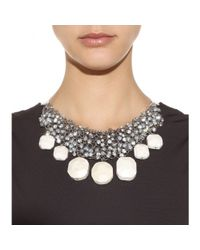By Malene Birger | Natural Olias Crystalembellished Stone Necklace | Lyst