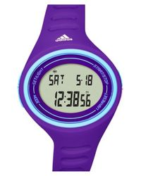 Adidas - Purple 'adizero Basic Mid' Digital Watch - Lyst