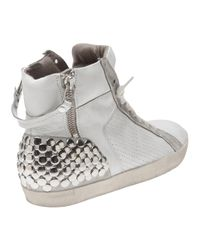 Kennel & Schmenger - White Leather Stud Metro Trainers - Lyst