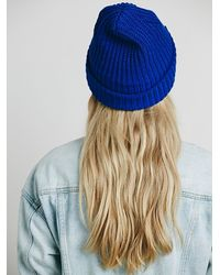 Free People - Blue Womens Good Stuff Beanie - Lyst