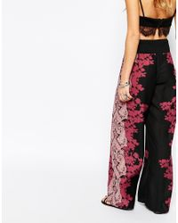 Band Of Gypsies - Multicolor Trouser With Placement Print - Lyst
