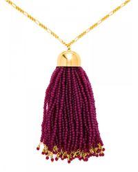 BaubleBar - Purple Clara Tassel Pendant - Lyst