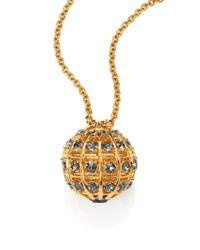Alexander McQueen - Metallic Crystal Ball Pendant Necklace/Goldtone - Lyst