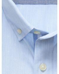 Banana Republic | Blue Tailored Slim-fit Non-iron Diamond Shirt for Men | Lyst