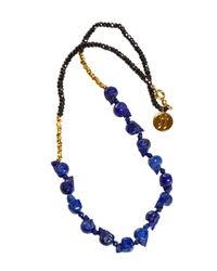 Jade Jagger | Blue Lapis Skull Necklace | Lyst