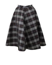 Michael Kors - Black Plaid Dirndl Skirt - Lyst
