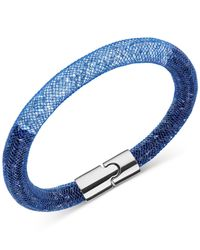 Swarovski | Blue Silver-tone Pink Stardust Bracelet | Lyst