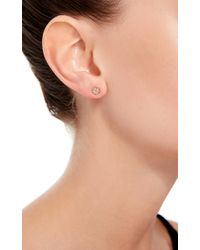 Loquet London | Metallic 14k Gold And Diamond Four Leaf Clover Stud Earring | Lyst