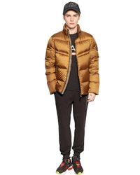 Emporio Armani | Metallic Quilted Nylon Ripstop Down Jacket | Lyst