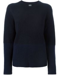 McQ - Blue Colour Block Sweater - Lyst