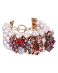 Betsey Johnson - Multicolor Fall Follies Pearl Toggle Bracelet - Lyst