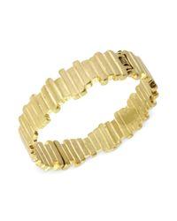 Kenneth Cole - Metallic New York Goldtone Thin Rectangle Hinge Bangle Bracelet - Lyst