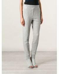 T By Alexander Wang - Gray French Terry Track Pants - Lyst