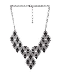 Forever 21 - Metallic Sharp Shooter Bib Necklace - Lyst