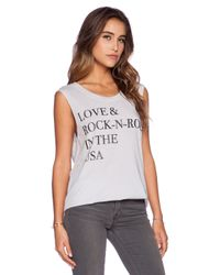 Chaser - White Love And Rock-n-roll Tee - Lyst