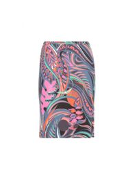 Emilio Pucci | Multicolor Printed Jersey Skirt | Lyst