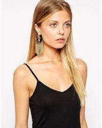 ASOS - Metallic Decadence Earrings - Lyst