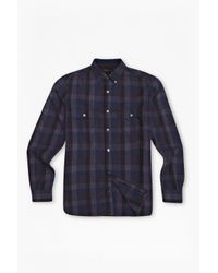 French Connection | Purple Route 66 Plaid Shirt for Men | Lyst