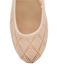 Lucky Brand | Natural Elisabetr Perforated Fabric Flats | Lyst