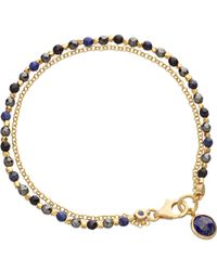 Astley Clarke | Blue Be Very Mysterious 18ct Gold Vermeil Friendship Bracelet | Lyst