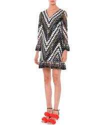 Marco De Vincenzo - Gray Circle-embellished Macrame Dress - Lyst