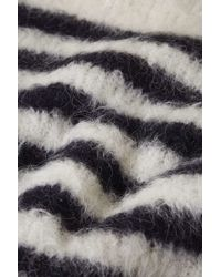 TOPSHOP - White Stripe Knitted Jumper By Boutique - Lyst