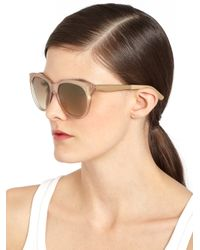 Jimmy Choo | Brown Allyn Oversized Iridescent Sunglasses | Lyst