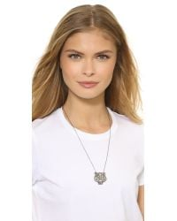 KENZO - Oversized Tiger Necklace - Black Silver - Lyst