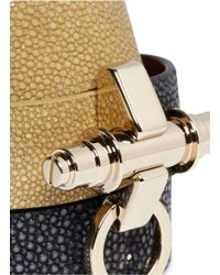 Givenchy | Green 'obsedia' Triple Wrap Stingray Leather Bracelet | Lyst