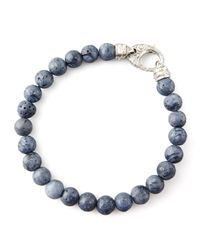 Stephen Webster | Blue Beaded Gray Coral Bracelet for Men | Lyst