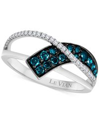 Le Vian | Blue Exotics® Diamond Ring (3/8 Ct. T.w.) In 14k White Gold | Lyst