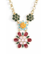 kate spade new york | Metallic 'bold Blooms' Pendant Necklace - Multi/ Gold | Lyst