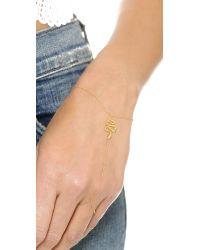 Jacquie Aiche - Metallic Ja Snake Chain Finger Bracelet - Yellow Gold - Lyst