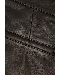 Iris & Ink - Black Sylvia Leather Shorts - Lyst