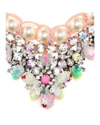 Shourouk - Multicolor Theresa Sequins Embellished Necklace - Lyst
