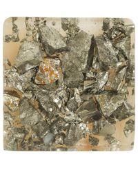 Marni - Gray Gold-Tone Pyrite Resin Ring - Lyst