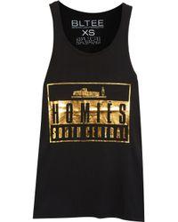 Brian Lichtenberg - Black Homiés Advisory Foiled Cotton T-shirt - Lyst
