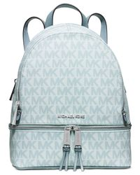 Michael Kors | Blue Michael Rhea Small Backpack | Lyst
