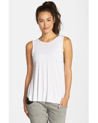 Blue Life - White Open Back Tank - Lyst