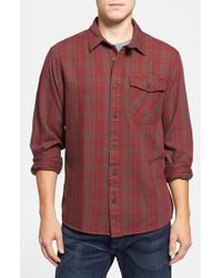Patagonia | Brown 'iron Ridge' Regular Fit Organic Cotton Twill Plaid Shirt for Men | Lyst
