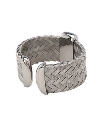 Roberto Coin - Woven Bangle With Green Mother Of Pearl - Lyst