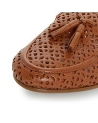 Dune | Brown Galla Leather Tasselled Loafers | Lyst