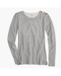 J.Crew | Blue Long-sleeve Striped Painter T-shirt | Lyst