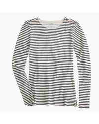 J.Crew | Blue Long-sleeve Striped Painter T-shirt | Lyst
