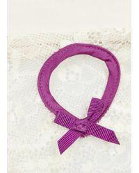 Elle Macpherson - Purple Exotic Plume Cream Lace Thong - Lyst