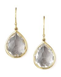Ippolita - Metallic Clear Quartz Drop Earrings - Lyst
