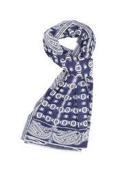 Patrizia Pepe - Blue Scarf for Men - Lyst