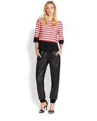 Sachin & Babi | Red Juliette Striped Top | Lyst