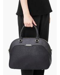 Mango | Black Pebbled Tote Bag | Lyst