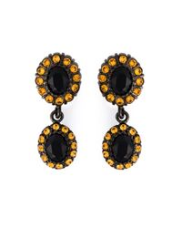Givenchy | Black Dropped Gemstone Earrings | Lyst